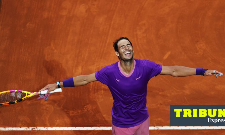 Tribuna Expresso: Big Game    In game 57 between Nadal and Djokovic, the Spaniard smiled