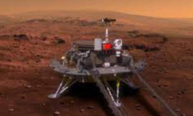 Robô chinês pousa em Marte
