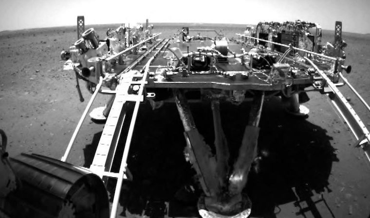 Zhuang's Chinese robotic vehicle hit Mars surface