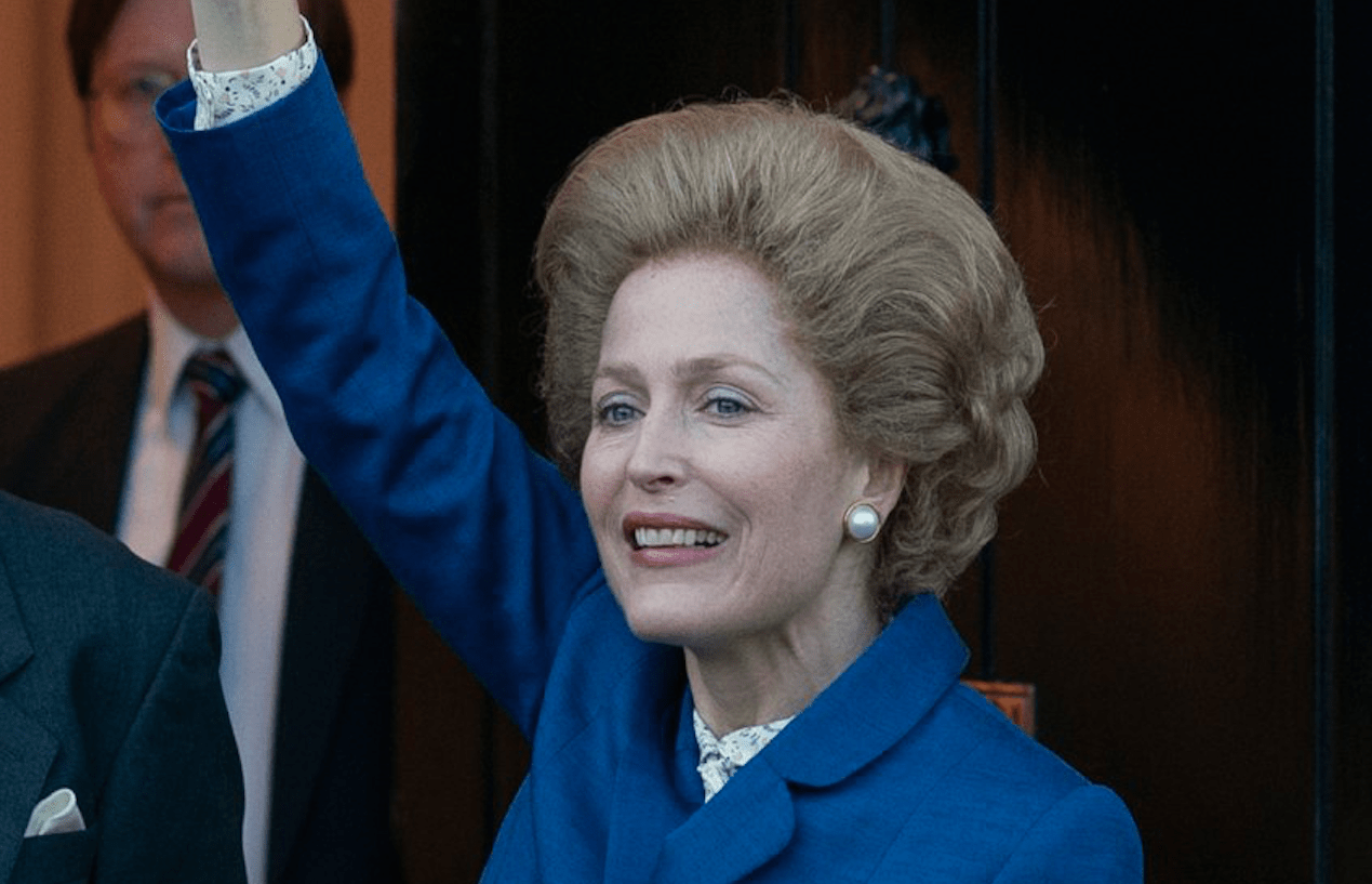 Margaret Thatcher (Gillian Anderson) in The Crown (Reproduction)