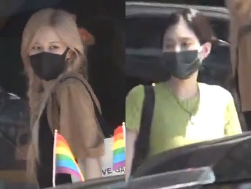 BLACKPINK: Jenny and Rose fans busted in Los Angeles