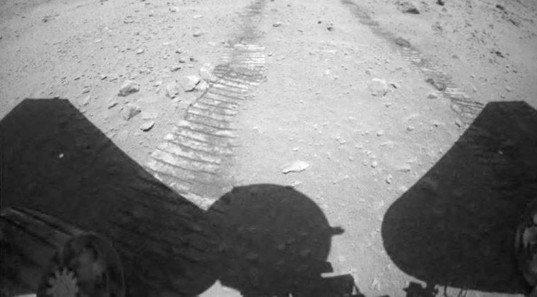 Imagem de Marte feita pela sonda chinesa Zhurong