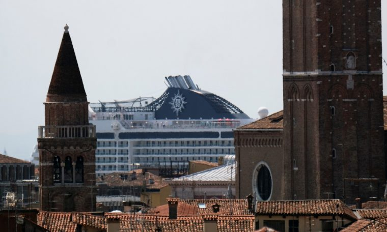 Cruises return to Venice after more than 1 year without travel due to pandemic restrictions.  world