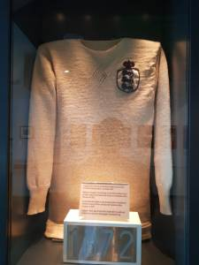 1872 England jersey at the Manchester Football Museum
