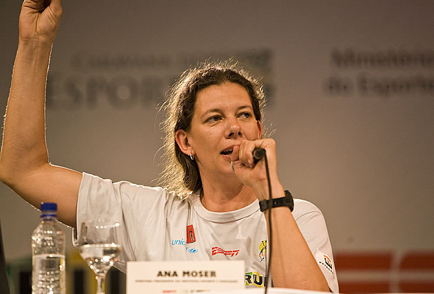 Anna Moser talks about medal prospects, the Olympic cycle, sports and democracy in Tokyo, Brazil