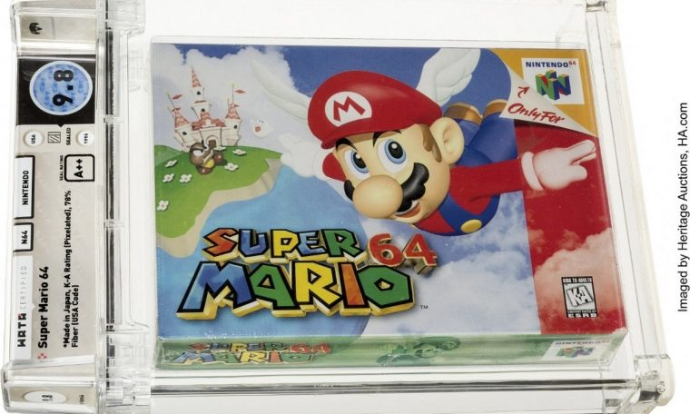 'Super Mario' cartridge sold for $1.56 million, a record for a video game  sport