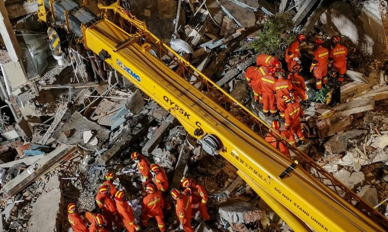 8 killed, 9 missing in hotel collapse in China;  Watch Video |  world