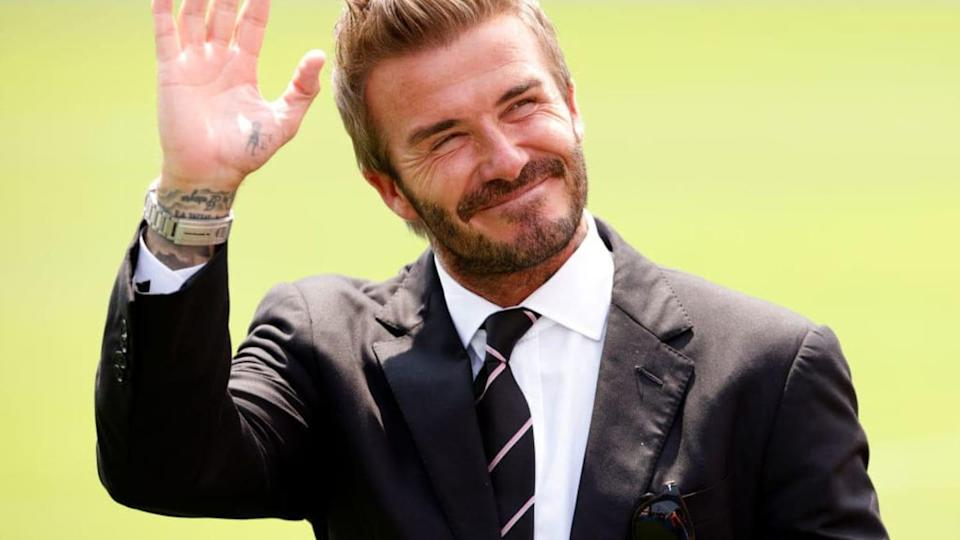 Beckham is one of the club's owners.  Los Angeles Galaxy vs Inter Miami CF |  Cliff Hawkins / Getty Images