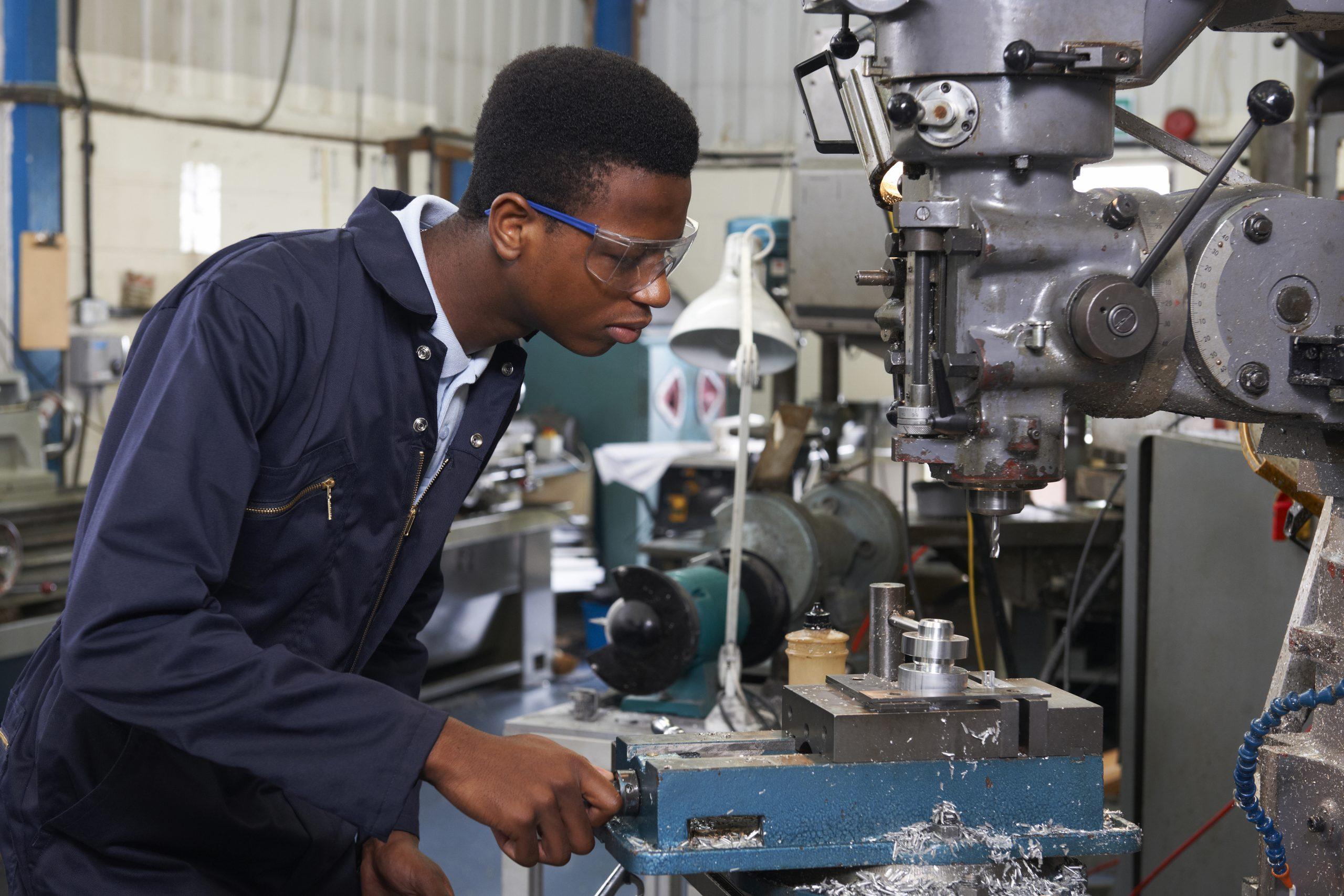Yuva Engineering Apprentice Operating Machine