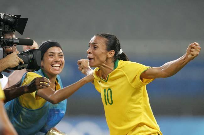 Marta celebrates in Beijing over Germany