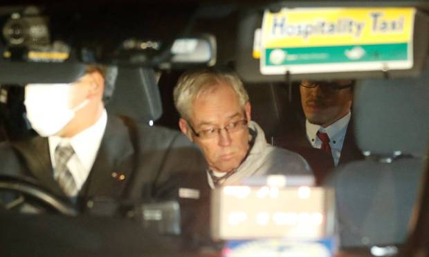 Greg Kelly, the right-hand man of Carlos Ghosn at Nissan and who was also arrested, left Tokyo prison in December after posting bail.  Photo: Kim Kyung-hoon / Reuters
