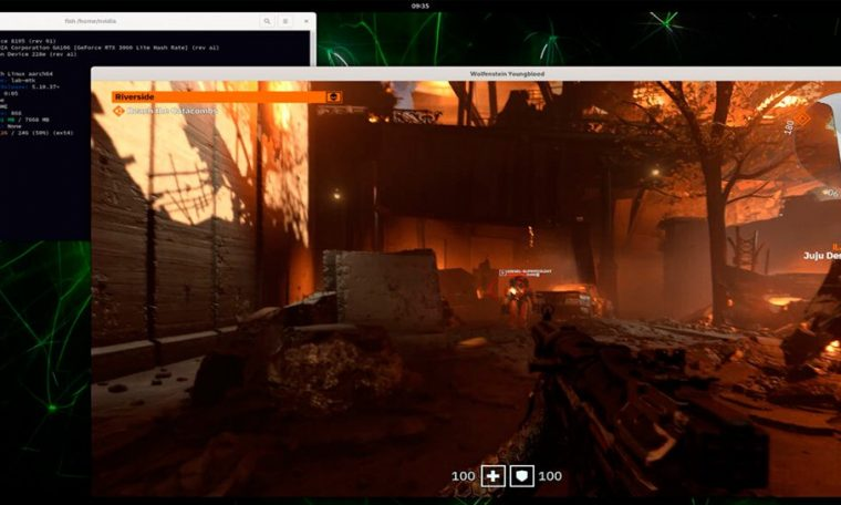 Ray Tracing Shows 'Wolfenstein: Youngblood' Running With RTX and DLSS on NVIDIA ARM Architecture