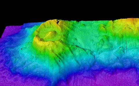 "Ancient ocean bottom volcano discovered in Australia similar to ""Eye of Sauron"""