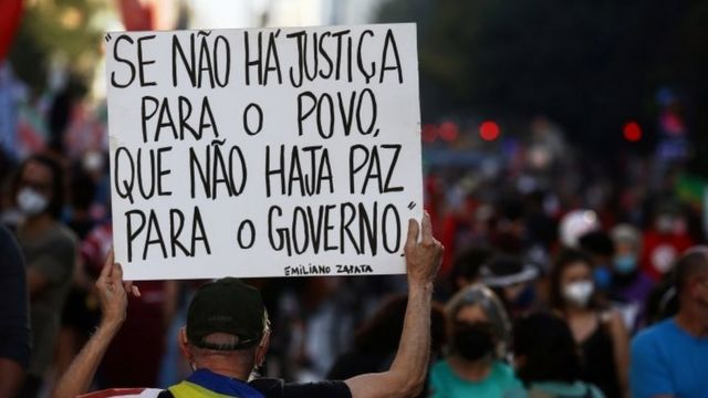 Protests against President Jair Bolsonaro last Saturday in Sao Paulo