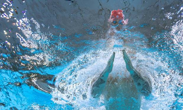 Briton Adam Peaty during the men's 100m breaststroke final Photo: Francois-Xavier Marit / AFP