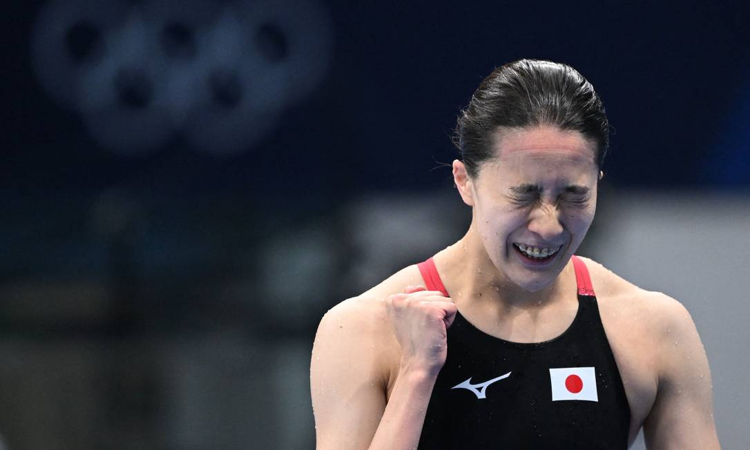 Yui Ohashi celebrates victory in 200m medley: The Japanese also had gold in the 400m medley at the Tokyo Olympics Photo: Jonathan Knackstrand / AFP