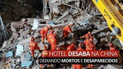 VIDEO: Hotel collapsed in China, dead and missing