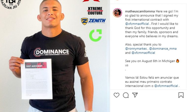 Acriano signs first international contract with US MMA organization  BC