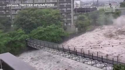 VIDEO: Rain turns a stream into a river in Japan;  see the power of water