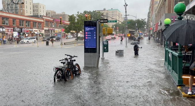 Floods in New York while waiting for Elsa to arrive - News