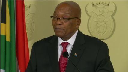 South African President Jacob Zuma resigns