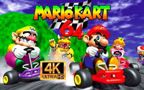 Mario Kart 64 in 4K!  Modifies and makes a better version of the game with better graphics and 60FPS