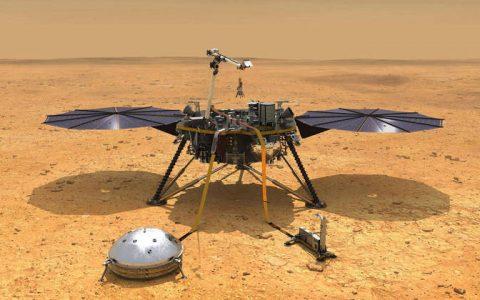 A sonda InSight, da Nasa, a agência espacial norte-americana