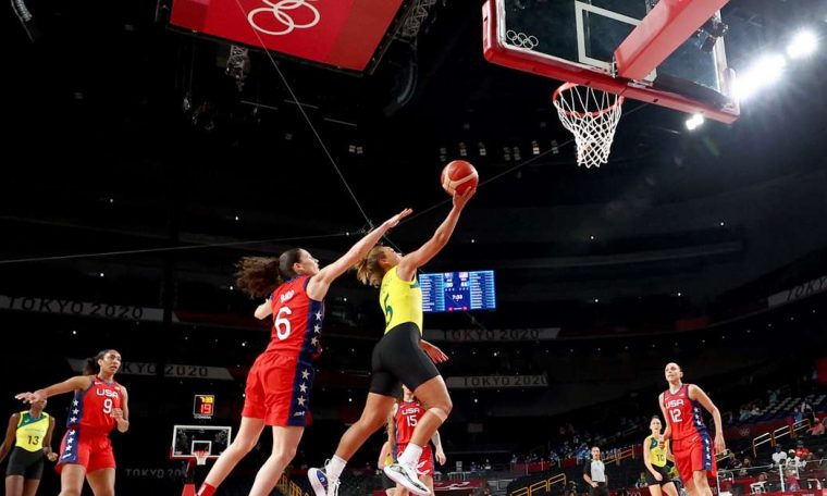 The United States takes on Australia and reaches the semifinals in women's basketball.