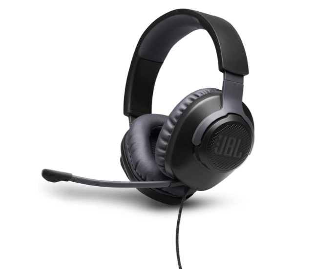 JBL Quantum 100 Wired Gaming Headphones, Black, Large (Photo: Publicity)