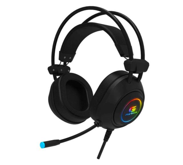 Gamer Headset RGB Crusader Black Fourtrack (Photo: Hype)