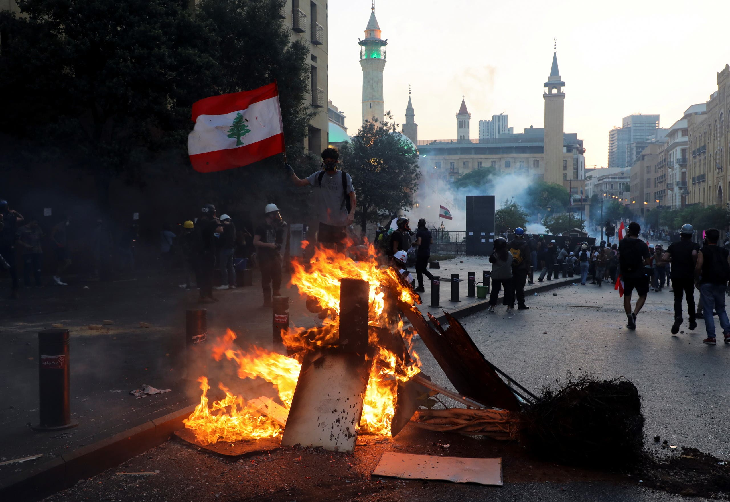 Protests in Beirut today