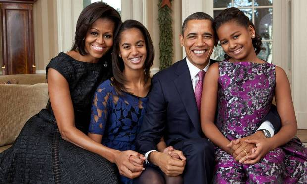 The Obama family: Michelle, Malia, Barack and Sasha resided at the White House between 2009 and 2017. Photo: Archive / White House
