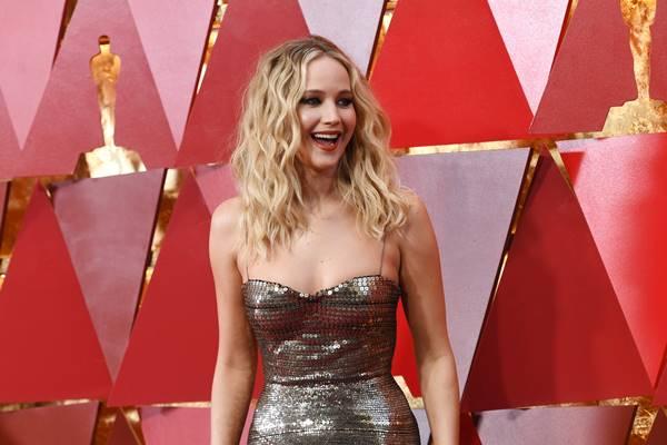 Actress Jennifer Lawrence at the 2018 Oscars