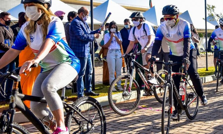 DF receives India-Brazil Friendship cycling circuit