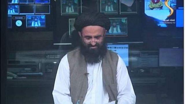 Afghan presenter on Shamshad TV channel