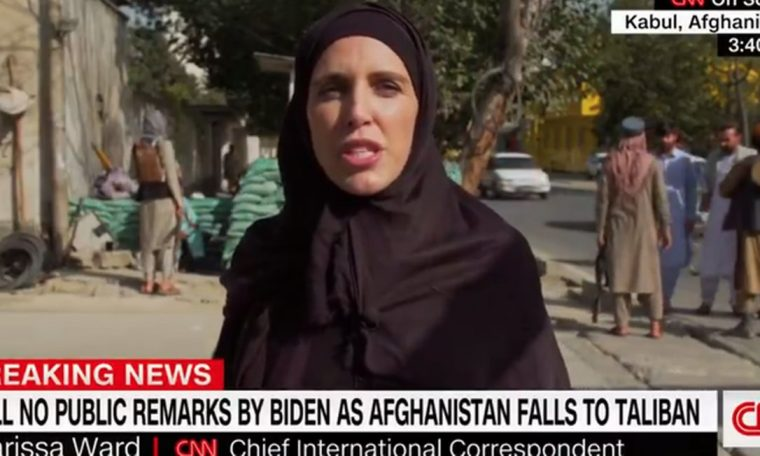North American Clarissa Ward is highlighted in coverage of events in Afghanistan Photo: Reproduction
