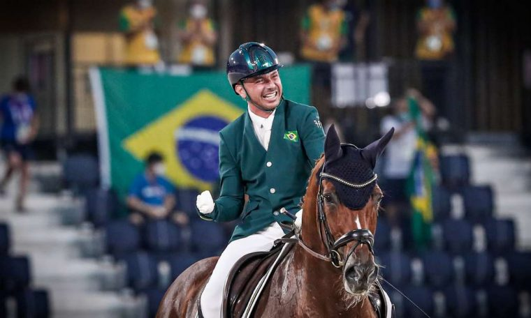 Brazil has 4 podiums, but has dropped to 10th place in the medal tally.
