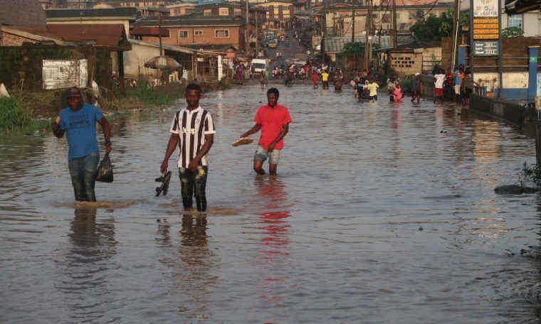 Africa's most populous city battles floods and stays on the map