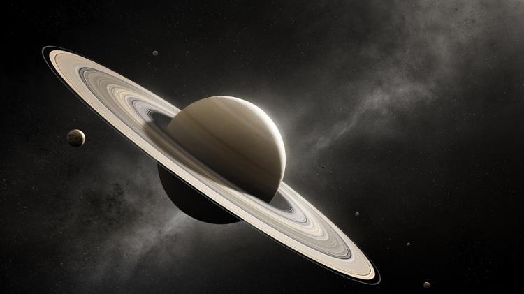 Portrait of Saturn and its Moons - NASA - NASA