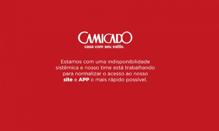 Camicado's website is down after the hacker attack that killed Lojas Rainer.  Technology