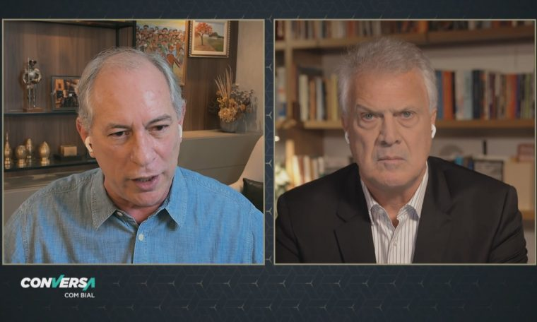 Ciro Gomes to Pedro Bial: 'Bolsonaro bribed this military summit that is dangerously turning into a militia party'.  Conversation with Bial