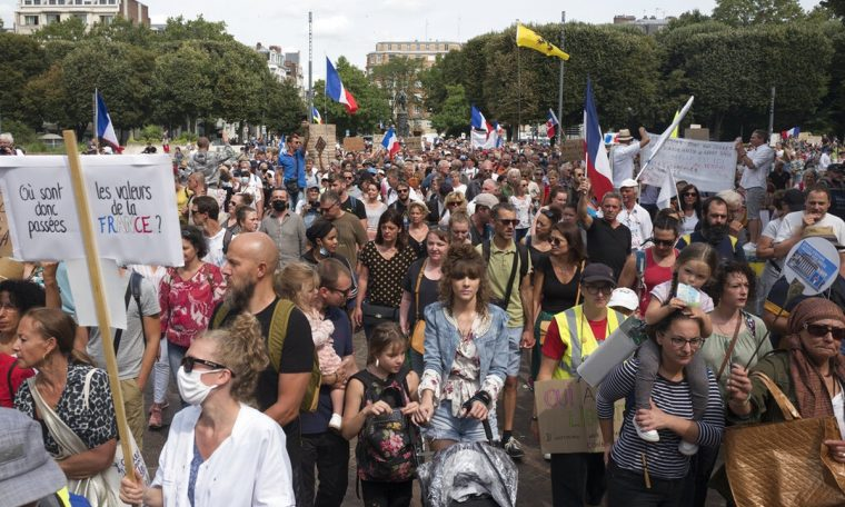 French protests against non-vaccination restrictions for sixth straight week  coronavirus