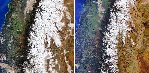 """""""Megaseca"""" in the Andes leaves mountain peaks without snow"""