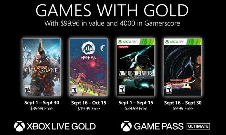 Imagem de: Xbox Games With Gold de setembro tem Warhammer: Chaosbane, Mulaka e mais