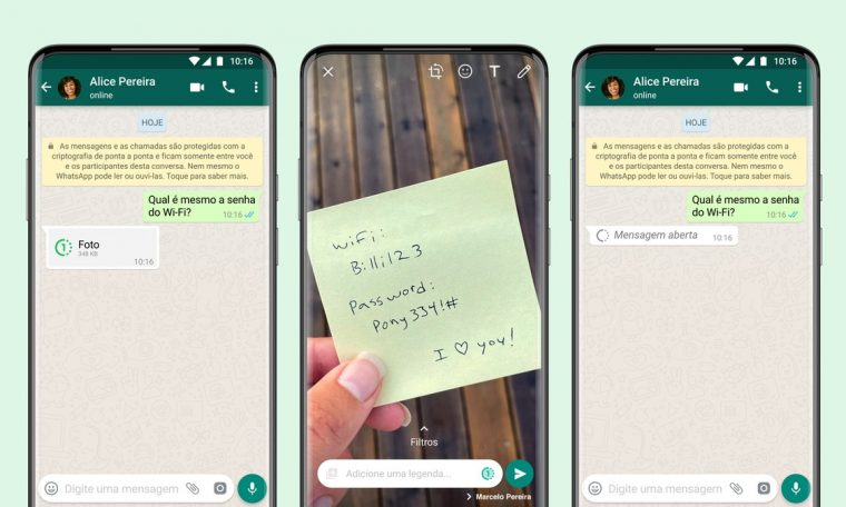 WhatsApp gets the option to send photos and videos which can be viewed only once.  Technology