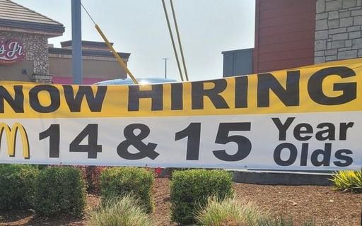 McDonald's Hires Teenagers in America Due to Staff Shortage - poca Negócios