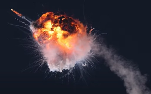 The rocket exploded shortly after launch in California;  Watch Video - poca Negócios
