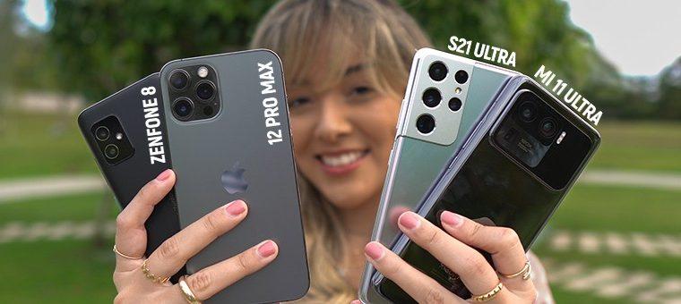 The Mi 11 Ultra takes on the S21 Ultra, iPhone 12 Pro Max and Zenfone 8.  camera comparison