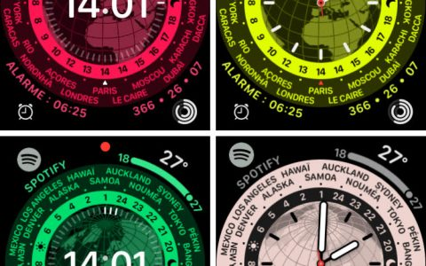 World clock and bounce, surprise watchOS 8 dials