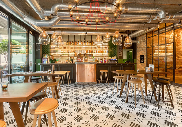 Example of application of upcycled tiles by Carbon Craft Design